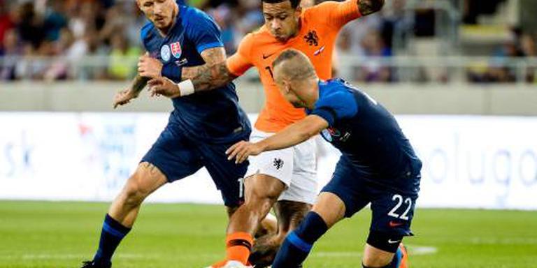 Oranje speelt gelijk tegen Slowakije