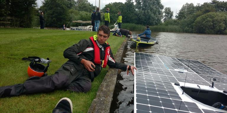 Eerder deze week hadden de deelnemers ook al last van slecht weer. FOTO TWITTER @TUDelftSBT