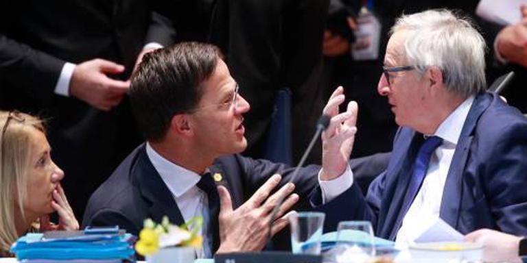 Juncker dankt Rutte voor steun bij rugpijn