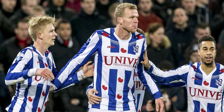 Een jaar na zijn debuut voor SC Heerenveen is Henk Veerman nog steeds dezelfde, maar toch ook weer niet. ANP/PRO SHOTS