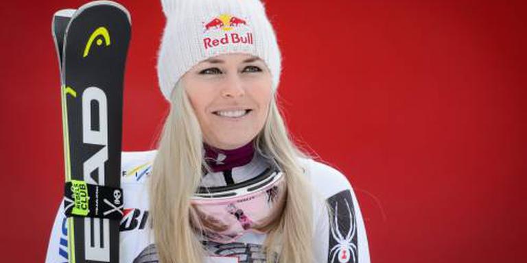 Lindsey Vonn kwam niet verder dan de zesde plaats.