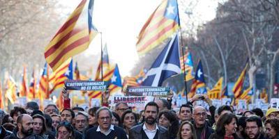 Separatisten protesteren massaal in Barcelona