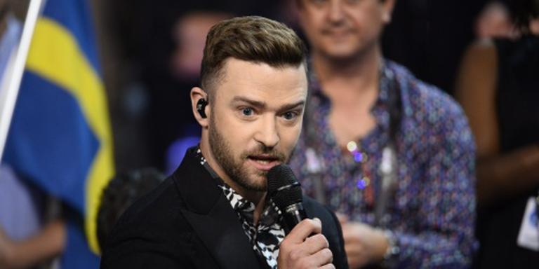 Justin Timberlake bij generale Songfestival