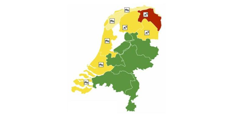 Code geel in Friesland, wegen begaanbaar