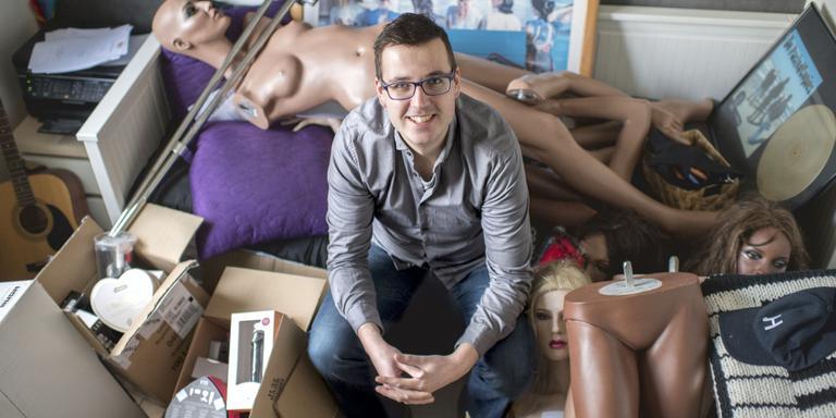 Mark Muller opent op 4 februari zijn erotiekwinkel in Heerenveen. FOTO JILMER POSTMA