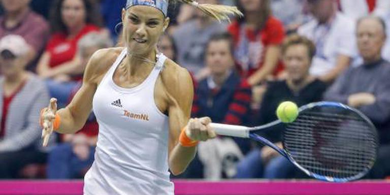 Tennisster Rus bereikt laatste vier