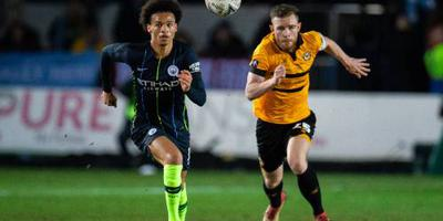 Manchester City pas na rust langs Newport
