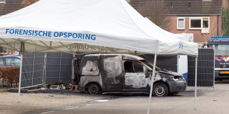 Beelden explosie busje met lijk Nabil Amzieb