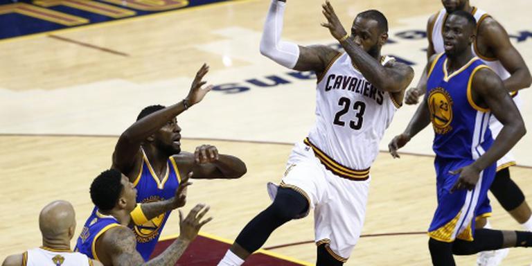 Cavaliers op gelijke hoogte met Warriors