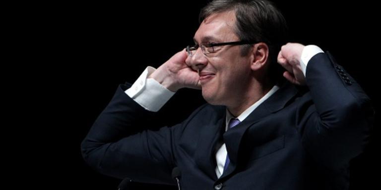 'Servische premier boekt klinkende zege'