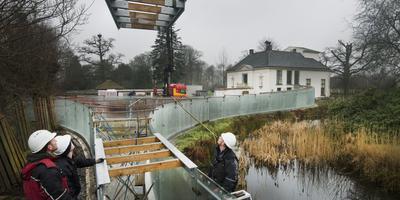 Dak op aanbouw van Paviljoen Vijversburg