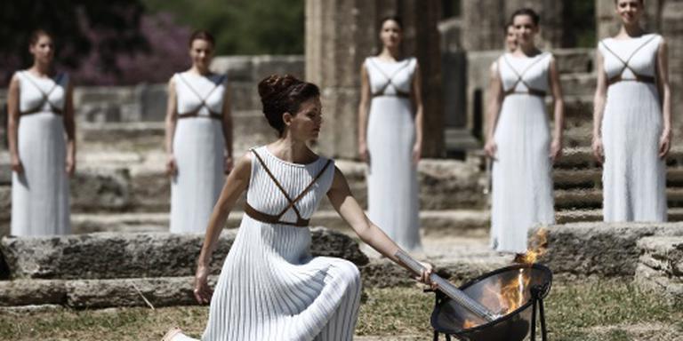 De olympische vlam voor Rio brandt