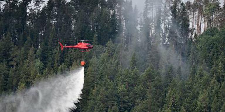 Duitse brandweerlieden aan het werk in Zweden