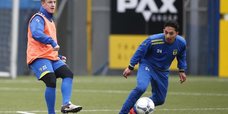 Martijn van der Laan doorliep als getogen Groninger de jeugdopleiding van de plaatselijke FC, maar brak er nooit door. Met Cambuur keert hij morgen terug in de Euroborg. FOTO HENK JAN DIJKS.