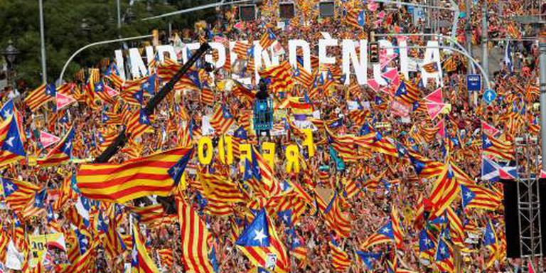 Massale betoging separatisten in Barcelona