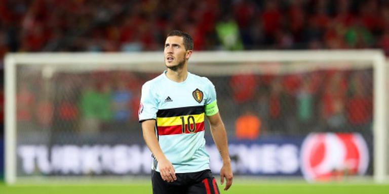 Hazard blijft achter bondscoach Wilmots staan