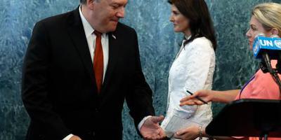 Opvolgster Nikki Haley ziet af van VN-functie