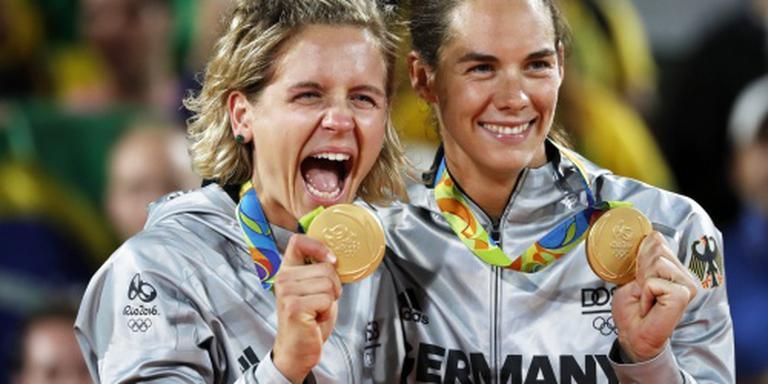 Duitse beachvolleybalsters stunten naar goud