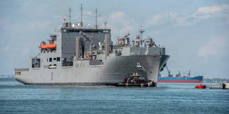 Orkaan hindert overdracht NAVO-commando