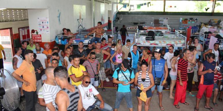 Vertrek Cubaanse vluchtelingen uit Costa Rica