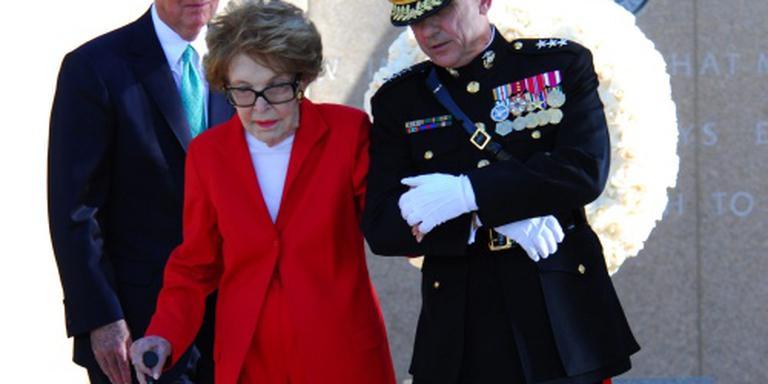 'Voormalig first lady Nancy Reagan overleden'