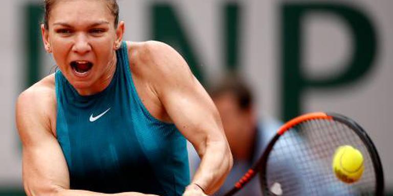 Halep laat op gang op Roland Garros