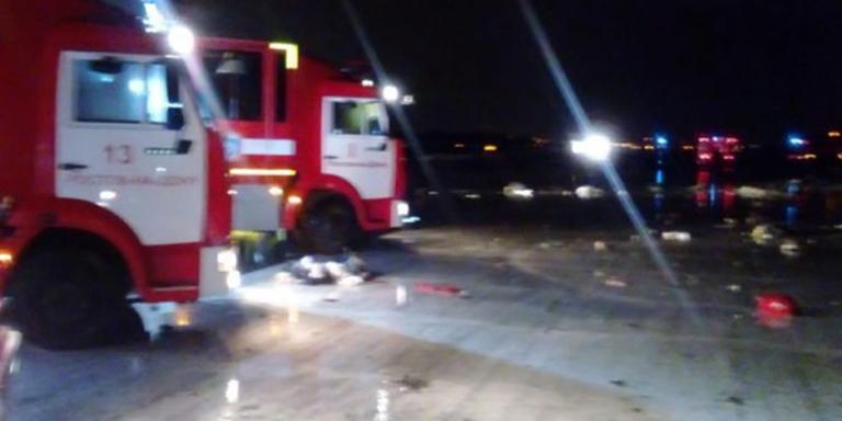 Passagiersvliegtuig neergestort in Rusland