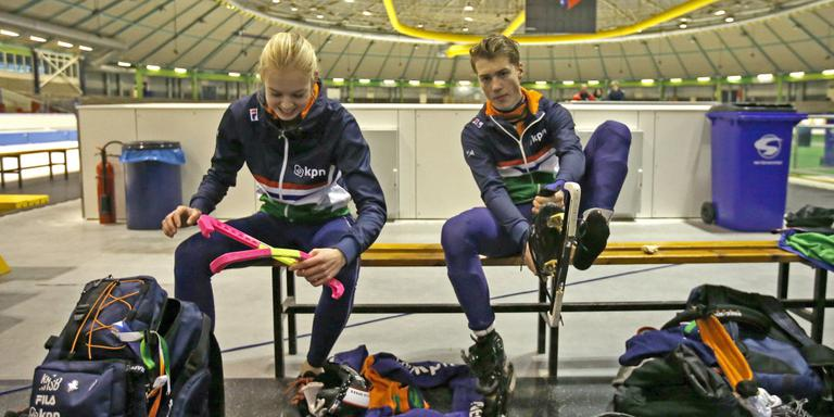 Gioya Lancee (links) en Tjerk de Boer. FOTO HENK JAN DIJKS