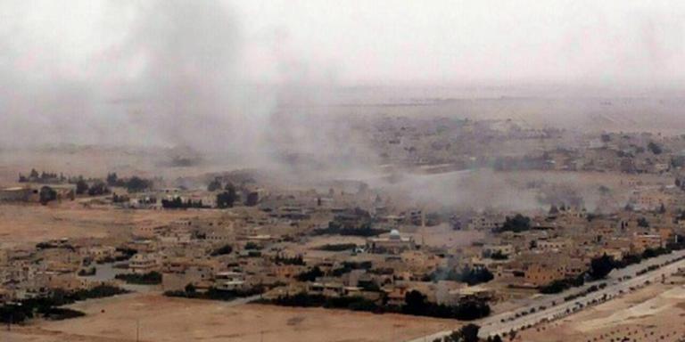 Syrisch leger rukt op in Palmyra