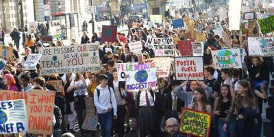 Ook Britse jongeren spijbelen voor klimaat