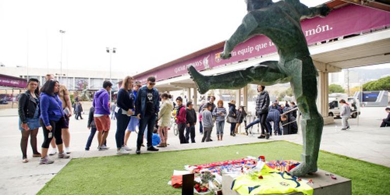 Condoleanceruimte voor Cruijff in Camp Nou