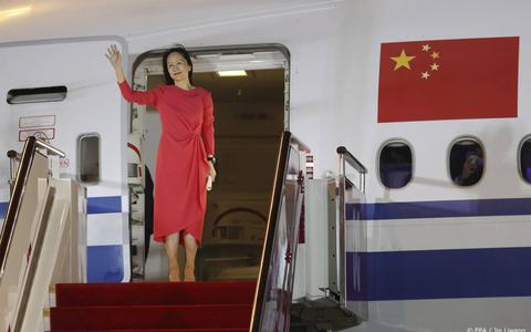 Vrijgelaten Huawei-topvrouw als een held onthaald in China