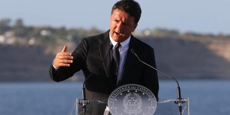 Italiaanse premier naar getroffen gebied