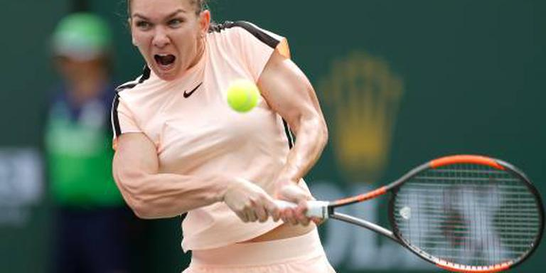 Halep naar kwartfinales in Indian Wells
