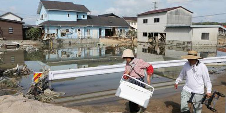 Tienduizenden huizen Japan nog zonder water