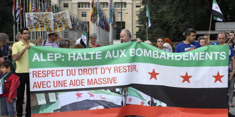 'Doden door vermeende gasaanval in Aleppo'