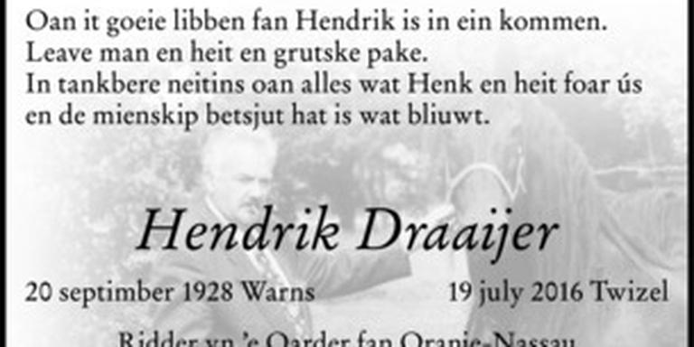 In memoriam Hendrik Draaijer