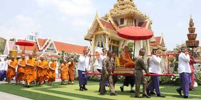 Thaise koning bij crematie Leicester-eigenaar
