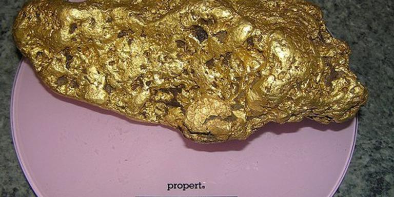 Goudzoeker vindt goudklomp van 4 kilo