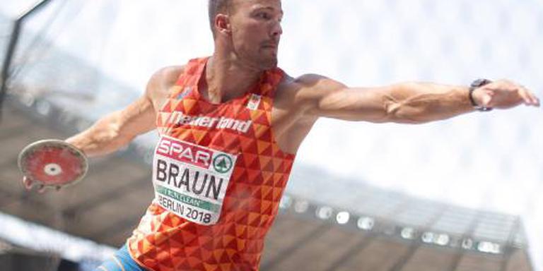 Tienkamper Braun is zicht op medaille kwijt