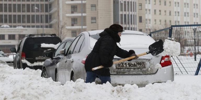 Extreem weer legt Moskou plat