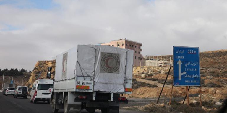 Derde konvooi naar belegerde Syrische steden