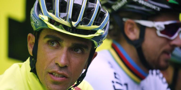 Contador onderuit in eerste etappe Tour