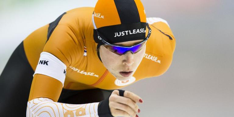Antoinette de Jong verraste met een tweede plek op 500 meter. FOTO ANP