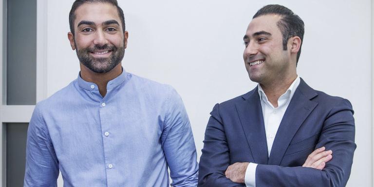 Agil (links) en Zabih Etemadi (28). FOTO JEAN-PIERRE JANS.
