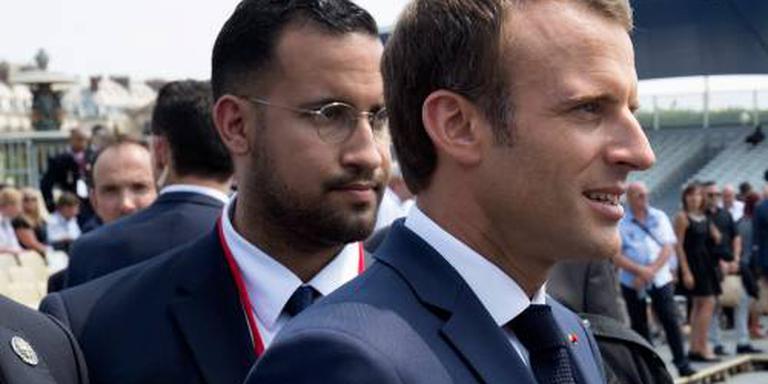 Beveiliger Macron voor de rechter