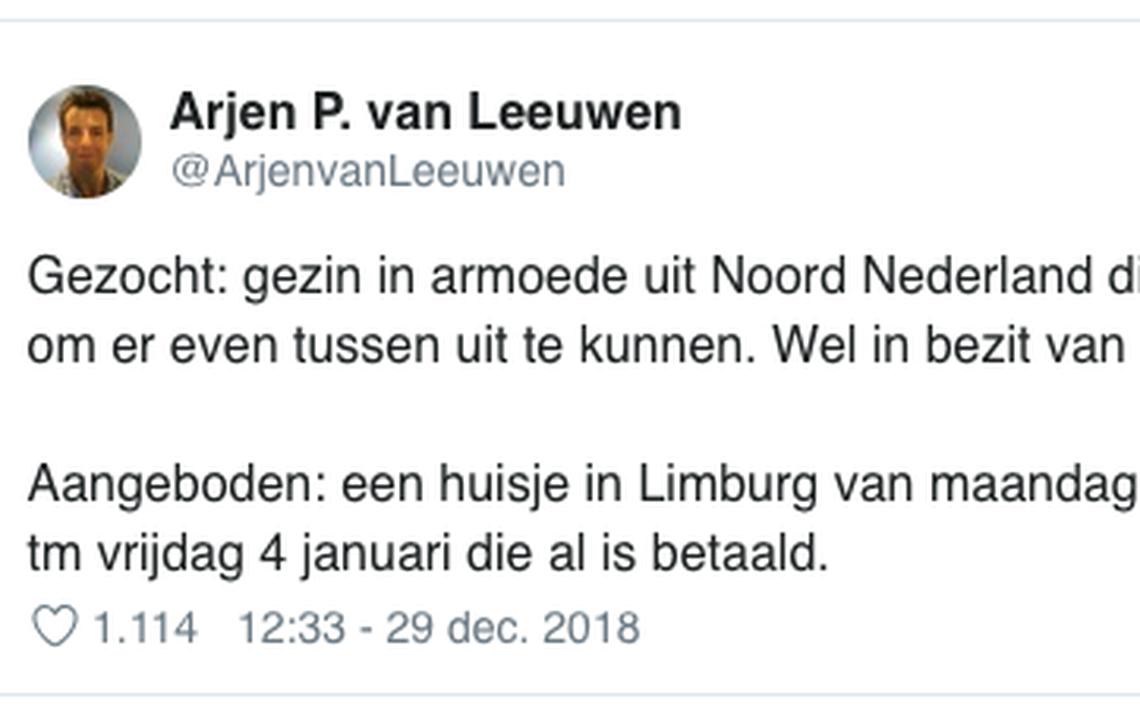 Drachtster doet oproep op Twitter: gezin met krappe beurs gezocht voor  gratis vakantieweekend - Friesland - LC.nl
