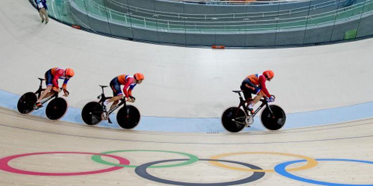 Teamsprinters grijpen naast medaille