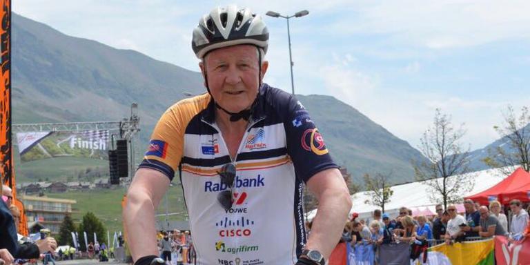 Hessel Bouma op de Alpe d'Huez.