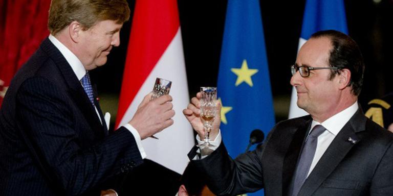 Koning benadrukt verbondenheid met Frankrijk